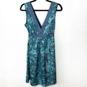 H&M Peacock Feather Print Dress